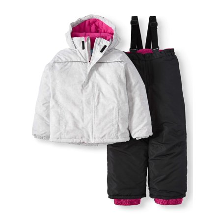 Quilted Fleece Jacket with Hood and Removable Fur Trim (Little and Big Girls)