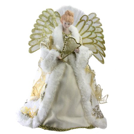Fiber Optic Angel in Gown Christmas Tree Topper ()