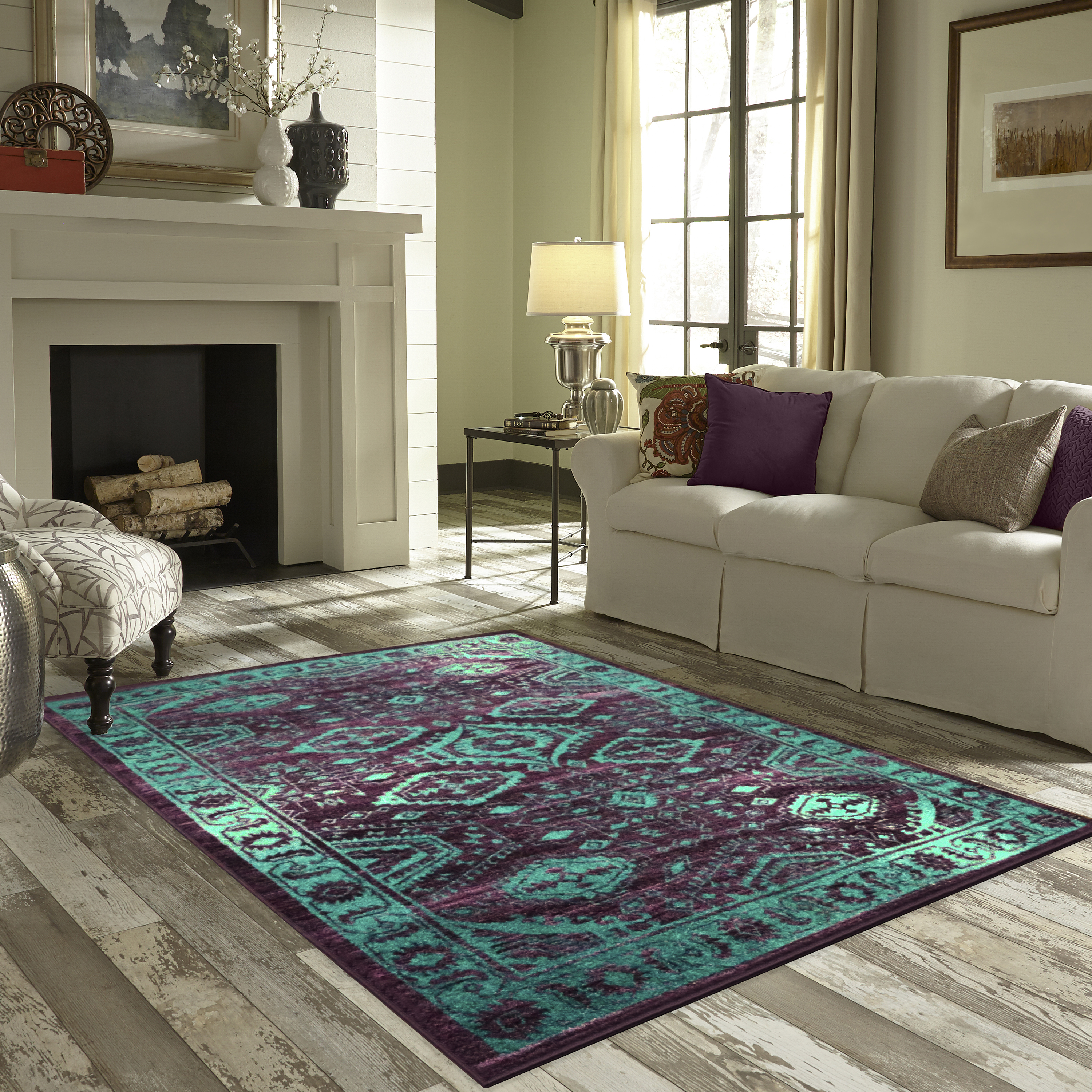 Mainstays Global Arya Area Rug or Runner Collection