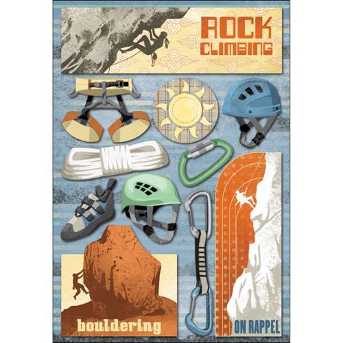 "Rock Climbing Cardstock Stickers 5.5""X9""-"