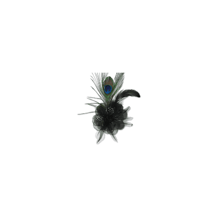 - Expo Int'l Yola Peacock Feather Brooch and Hairclip