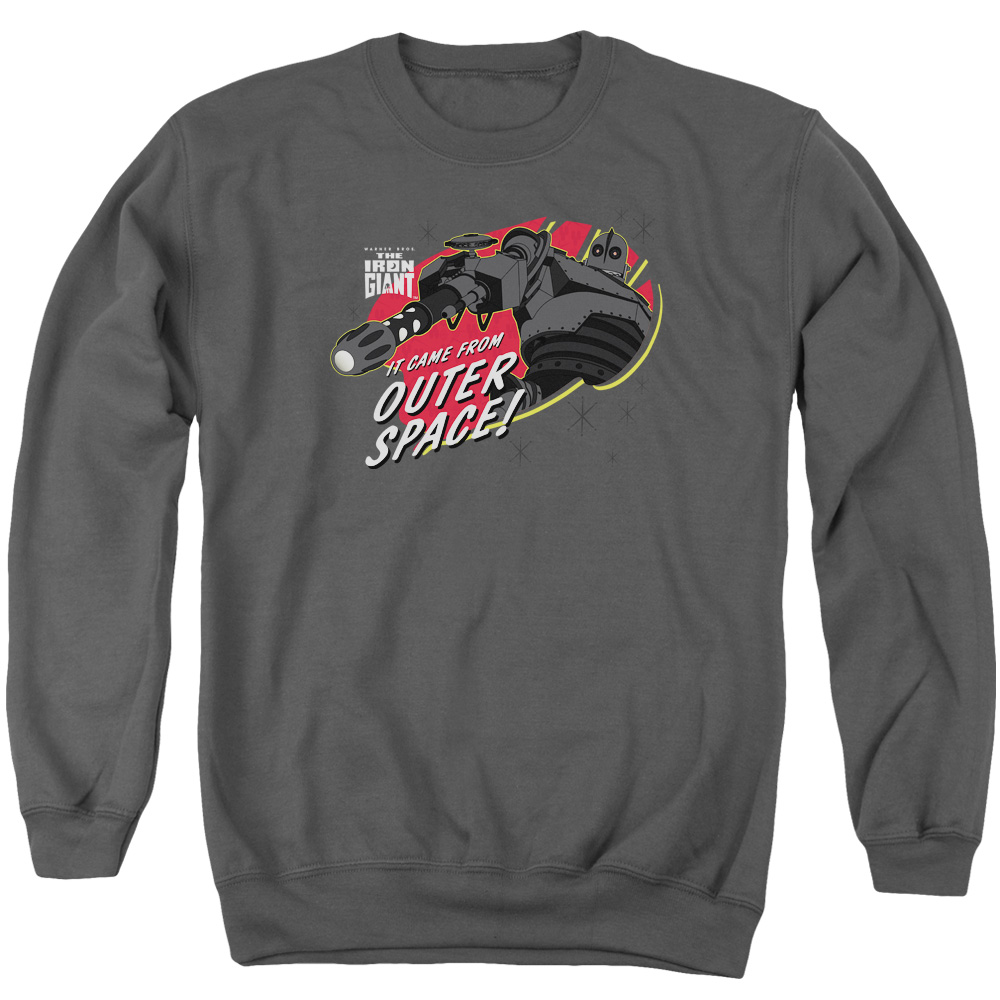Iron Giant Outer Space Mens Crewneck Sweatshirt