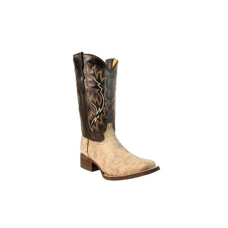 CORRAL Youth Brown Square Toe Cowboy Boots E1232 (3 D(T) US) - Discount Cowboy Boots