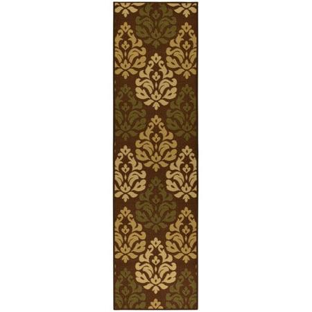 ottomanson ottohome damask design chocolate area rug