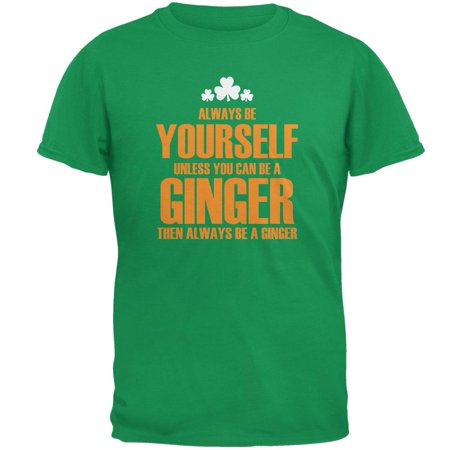 St. Patricks Day Always Be Yourself Ginger Irish Green Adult (Ginger Tie)