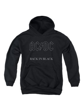 AC/DC Back In Black Big Boys Youth Pullover Hoodie BLACK