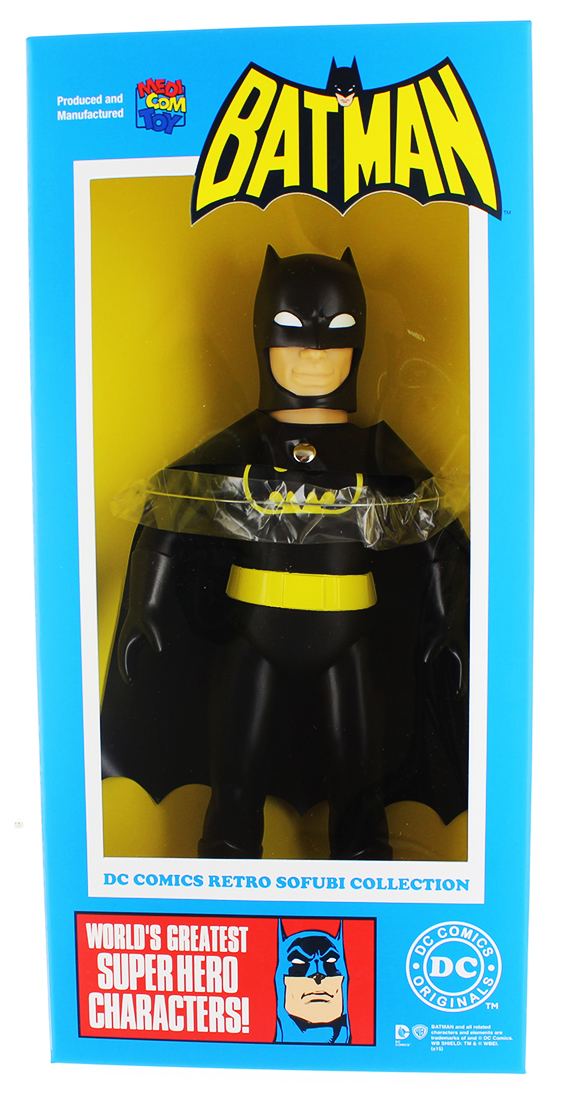 "DC Hero Sofubi 9"" Vinyl Figure: Batman (Black Version) by Diamond Comic Distributors, Inc."