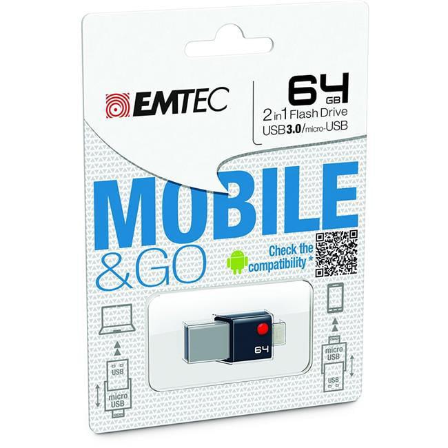 Emtec ECMMD64GT203 64Gb Flash Drive Usb3.0 T203 Otg