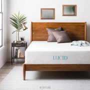 "Lucid 12"" Gel Memory Foam Mattress, Firm, Queen"