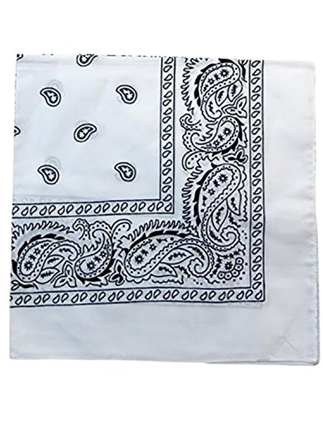 Daily Basic 100/% Cotton X Large Paisley Double Sided Printed Bandana