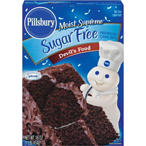 Pillsbury Moist Supreme Devil's Food Sugar Free Cake Mix, 16 oz