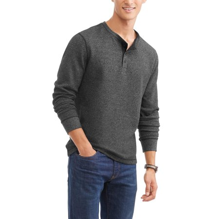 - Faded Glory Men's Long Sleeve Thermal Henley