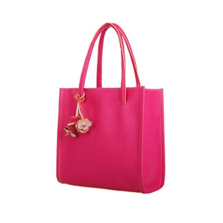 Fashion girls handbags leather shoulder bag candy color flowers totes (Candy Purses Bags)