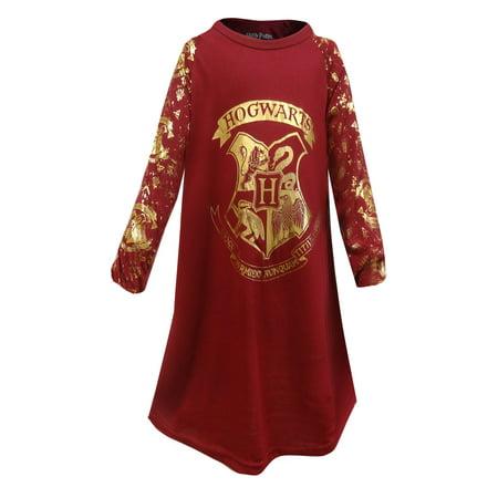 Harry Potter Hogwarts Crest Girls Nightgown - Hogwarts Robe