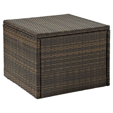 Crosley Furniture Palm Harbor Outdoor Wicker Coffee Sectional (Outdoor Square Coffee Table)