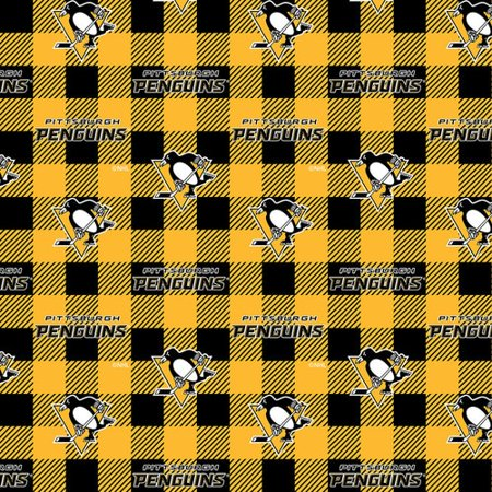 Pittsburgh Penguins Buffalo Plaid Fleece-Sold by the Yard