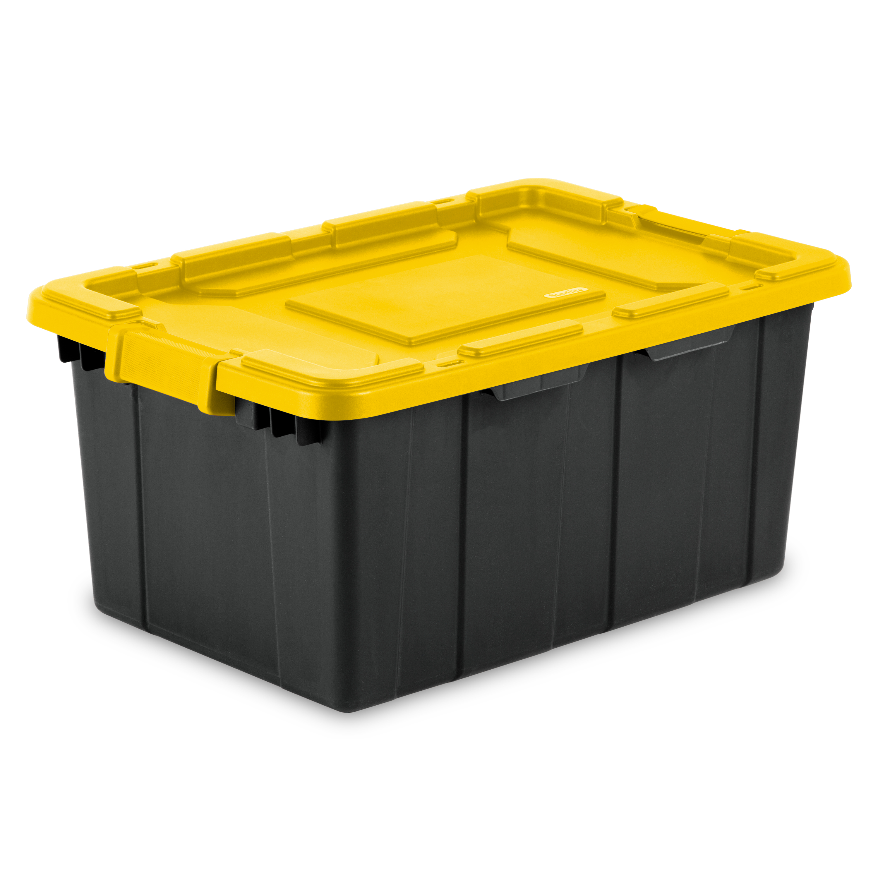 Sterilite, 15 Gal./57 L Industrial Tote, Yellow Lily