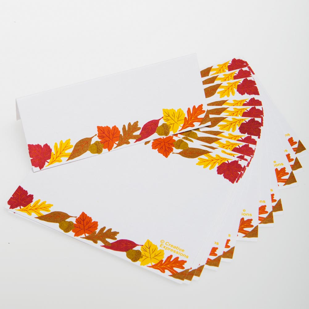 DDI 364791 3 3/4'' x 1 1/2'' 12 Leaf Place Cards - Pack of 84