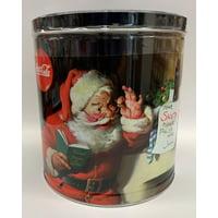 Signature Brands Santa Coke 24 Oz Holiday Popcorn Tin