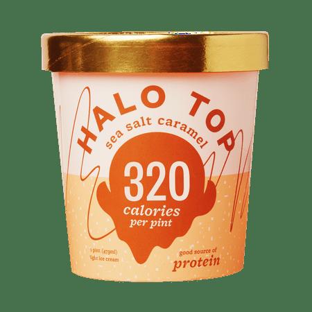 Halo Top Sea Salt Caramel Ice Cream 1 Pint