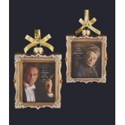 "4"" Downton Abbey Gold Glass Robert Crawley and Violet Crawley Picture Frame Christmas Ornament, Officially Licensed Merchandise By Kurt Adler Ship from US"