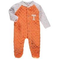 Tennessee Volunteers Newborn & Infant Cuddle Bubble Raglan Footed Sleeper - Tennessee Orange/White
