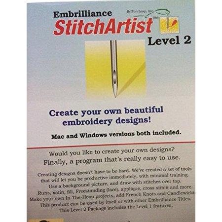 Embrilliance StitchArtist Level 2 Machine Embroidery Digitizing Software Embroidery Machine - Bernina Embroidery Software