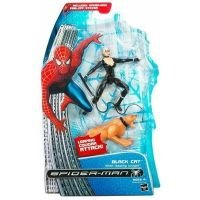 Spider-Man Movie Classic 2 Black Cat, Super-detailed action figure features leaping cougar-attack action! By Hasbro From USA