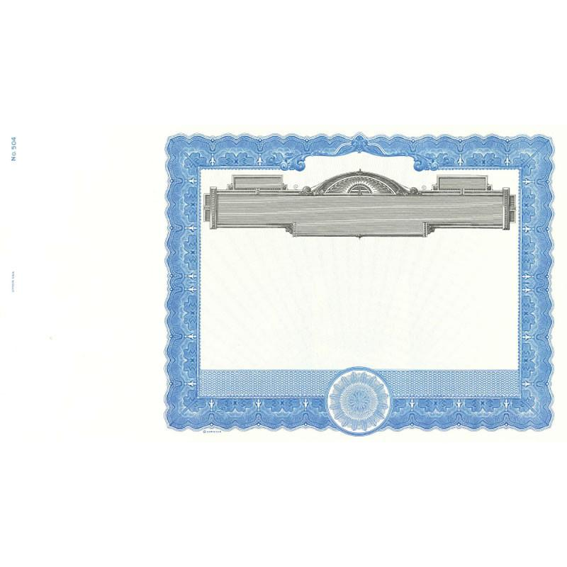 Goes 504 Blank Stock Certificate - Pack of 25