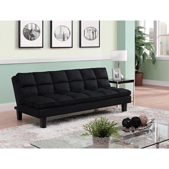 Dhp Allegra Pillow Top Futon Black Walmart Com