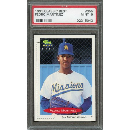 1991 Classic Best 355 Pedro Martinez Minor League Rookie Card Psa 9
