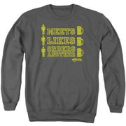 Cheers Man Meets Beer Mens Crewneck Sweatshirt