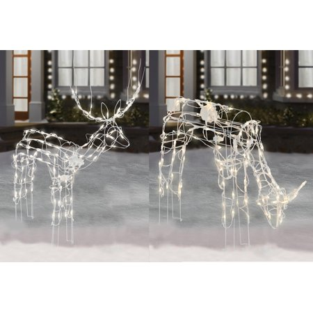 2-Piece Lighted Christmas Holiday Deer Family - 48