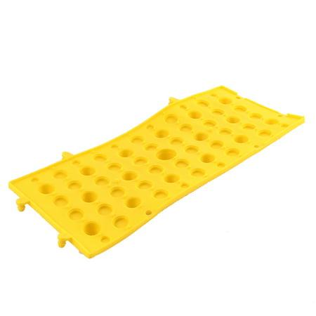Sport Relaxation Rubber Foot Massage Mat Shiatsu Sheet Yellow - image 1 of 3