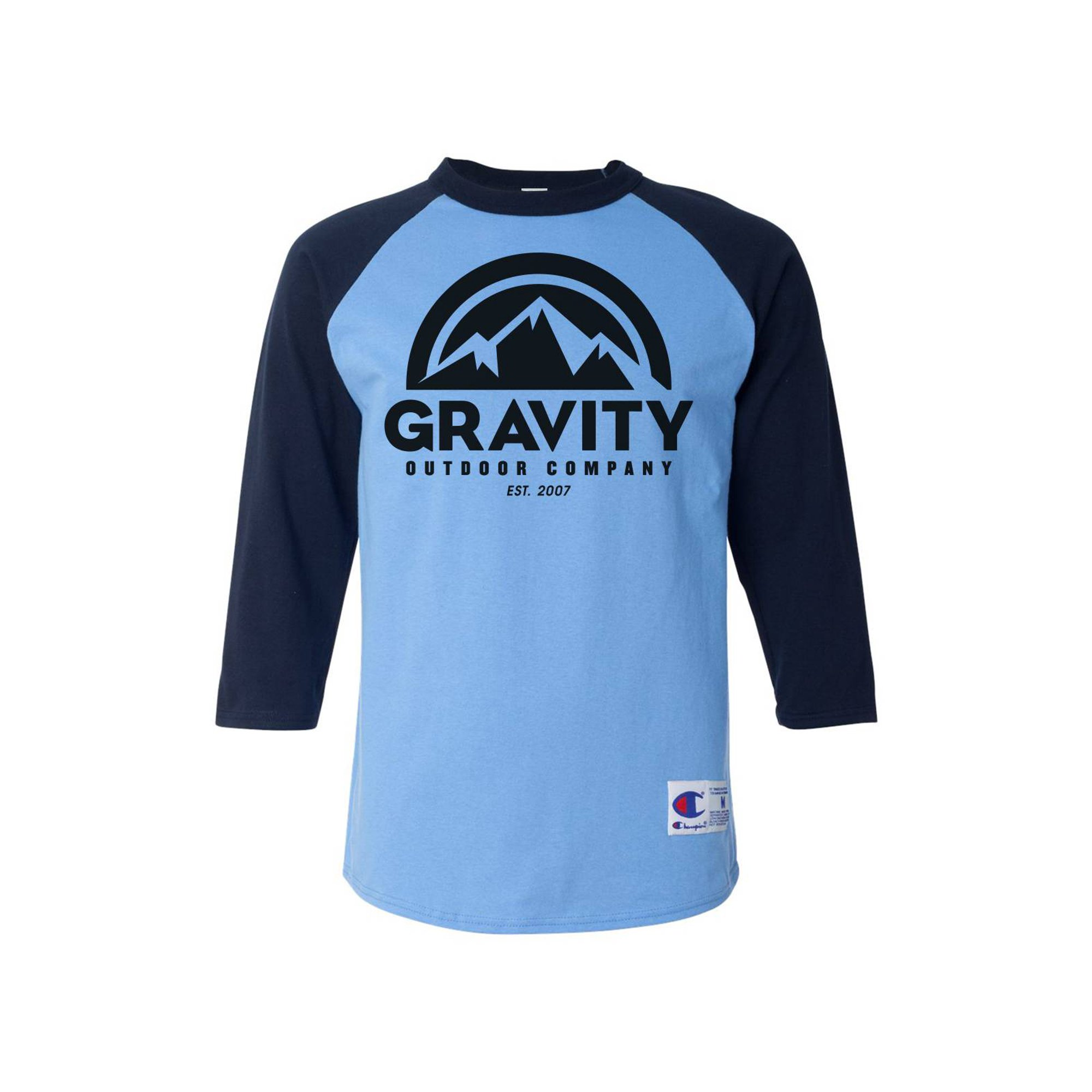 96d5d2c7 Mens Raglan T-Shirt - Black Logo - Team Blue/Oxford Grey - Large | Walmart  Canada