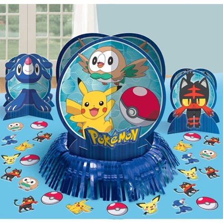Pokemon 'Sun and Moon' Table Decorating Kit (23pc)](Cheap Pokemon Party Supplies)