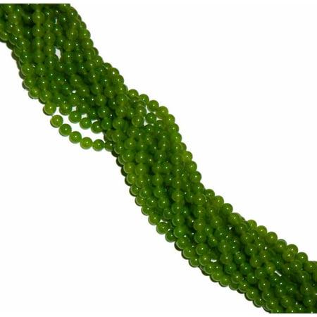 - 8mm Jade Olive Round, Loose Beads, 40 cm 15 inch Gemstone