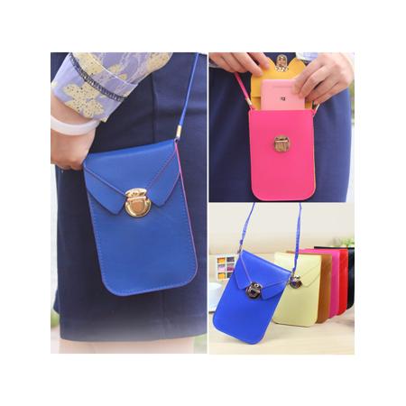 Purse Wallet (17x11cm PU Leather Shoulder Bag Woman Strap Wallet Purse Portefeuille Mobile Phone Package for under 5.5)