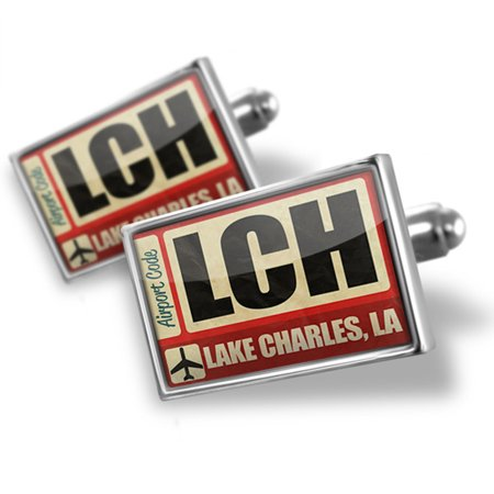 Cufflinks Airportcode LCH Lake Charles, La - NEONBLOND