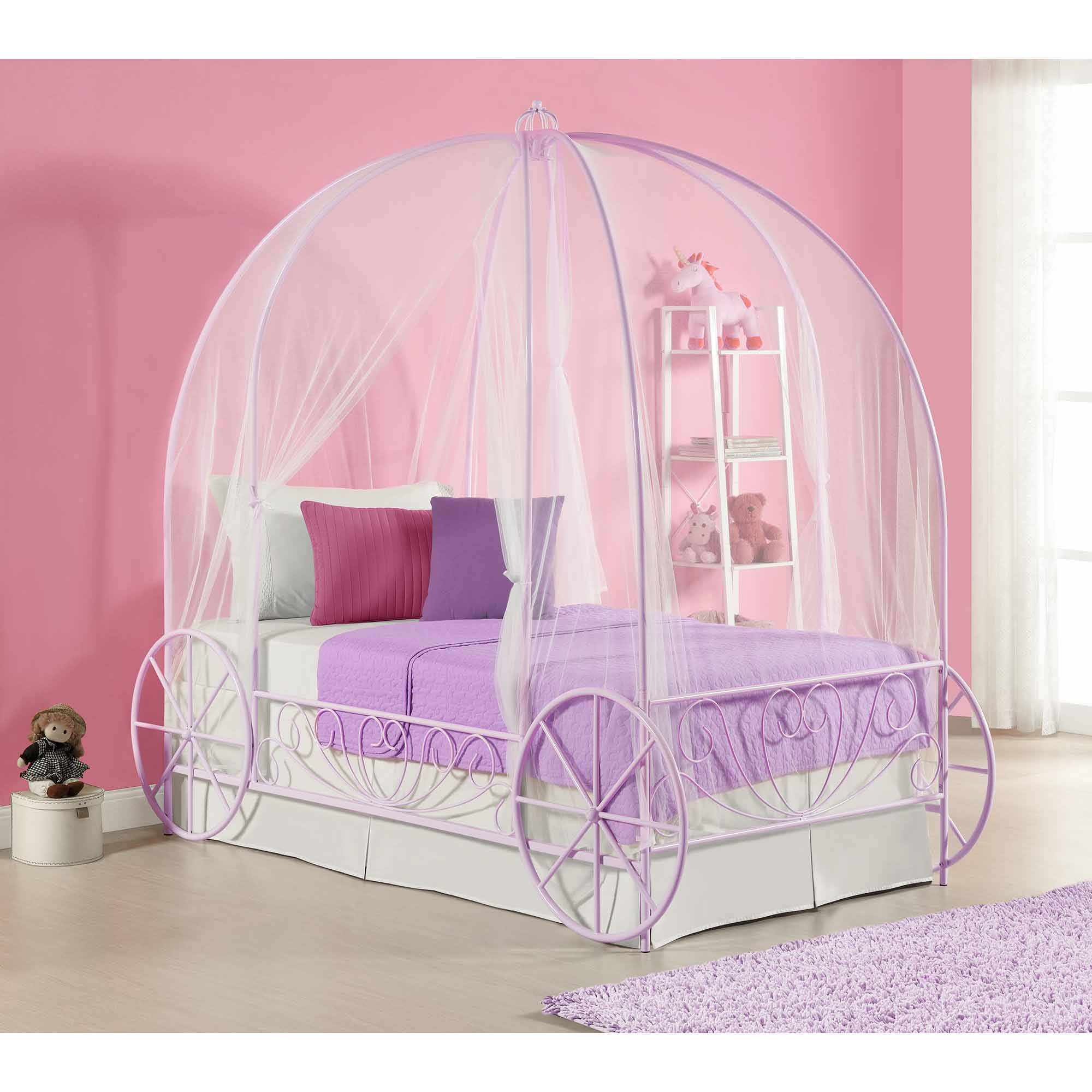 Nice DHP Metal Twin Carriage Bed, Multiple Colors   Walmart.com