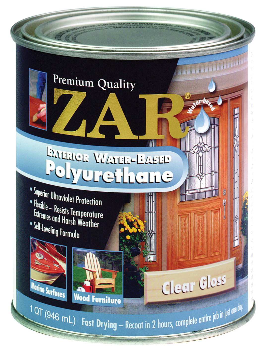 Superb ZAR Water Based Exterior Polyurethane   Walmart.com