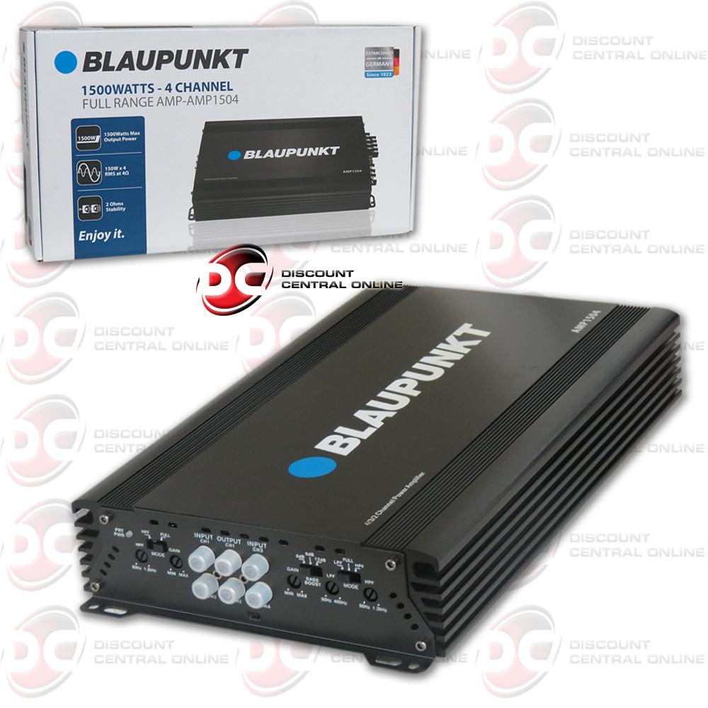 Blaupunkt AMP1504 1500 Watts 4 Channel Full Range Amplifier