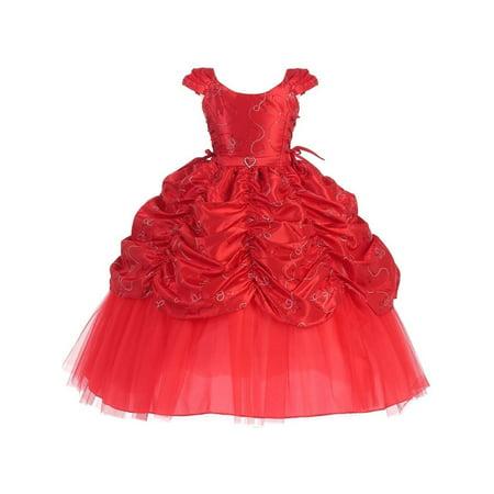 Sophias Style - Girls Red Cinderella Embroidered Pageant Dress 14 -  Walmart.com ad3bcb2b2