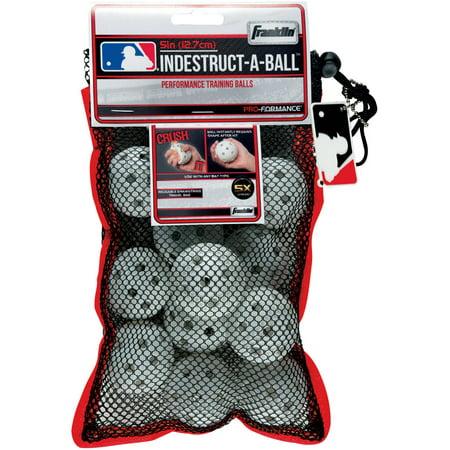 Franklin Sports MLB Indestruct-A-Ball Micro Baseballs (12-Pack)