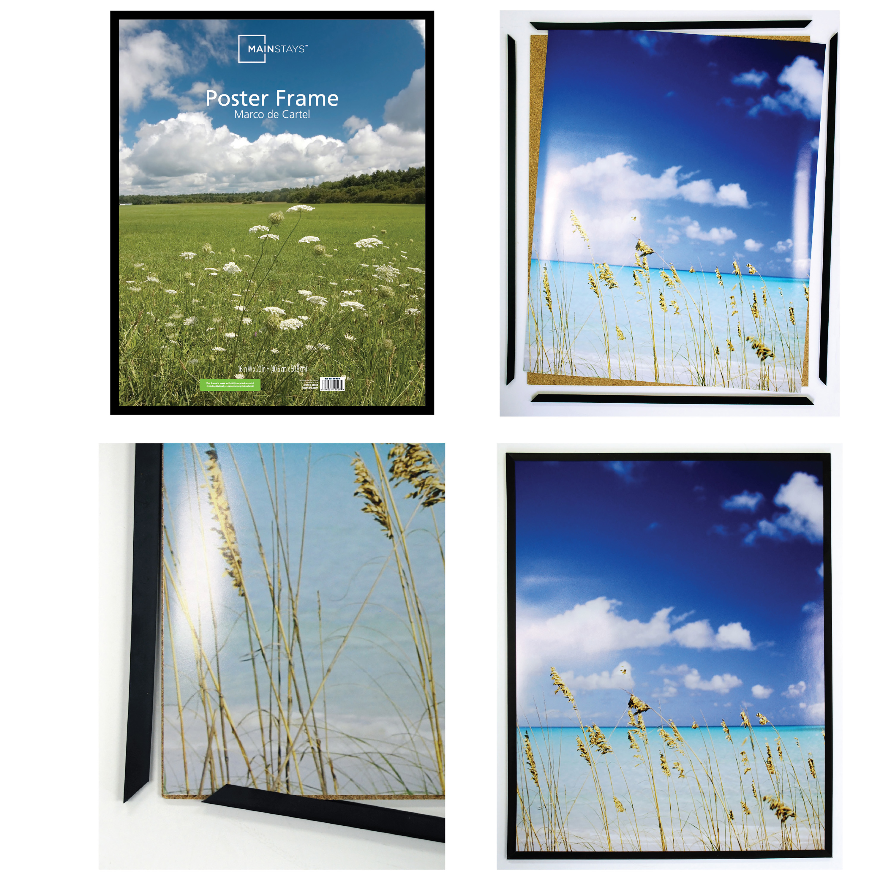 Mainstays 16 X 20 Basic Poster And Picture Frame Black Set Of 2