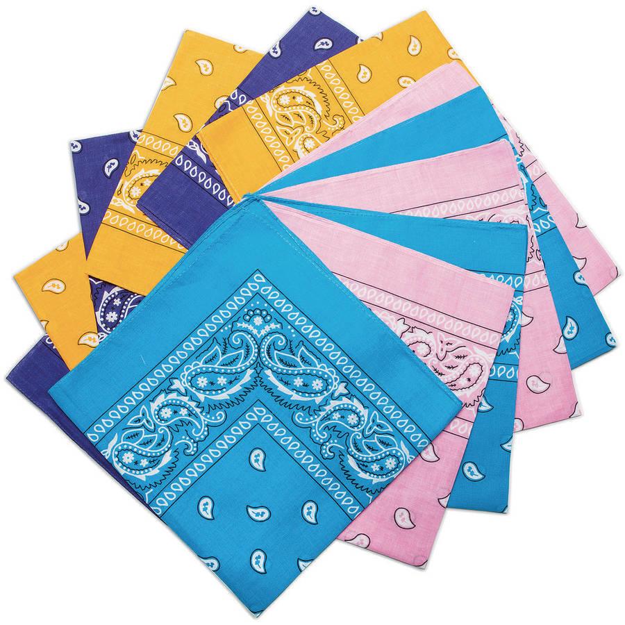 Bandanas, Fashion Colors, Pack of 12