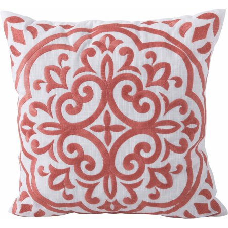Better homes and garden block embroidered medallion - Better homes and gardens pillows ...