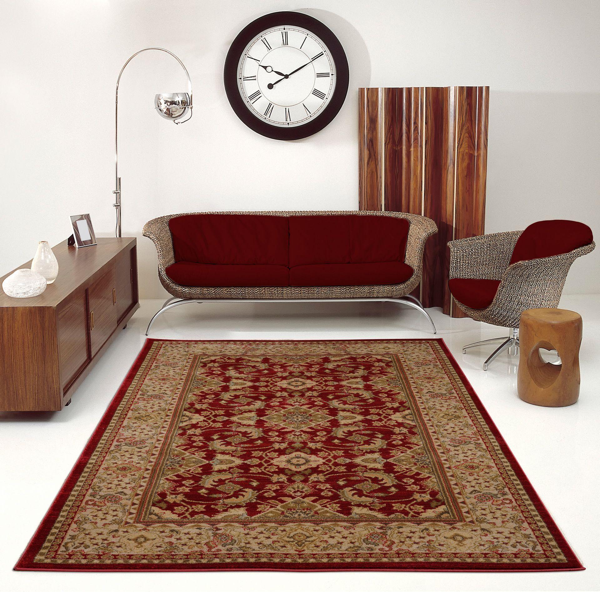 "Ladole Rugs Traditional Persian Design Runner Area Rug Carpet Cream Red(2'7"" x 9'10"", 80cm x 300cm) - image 4 of 4"