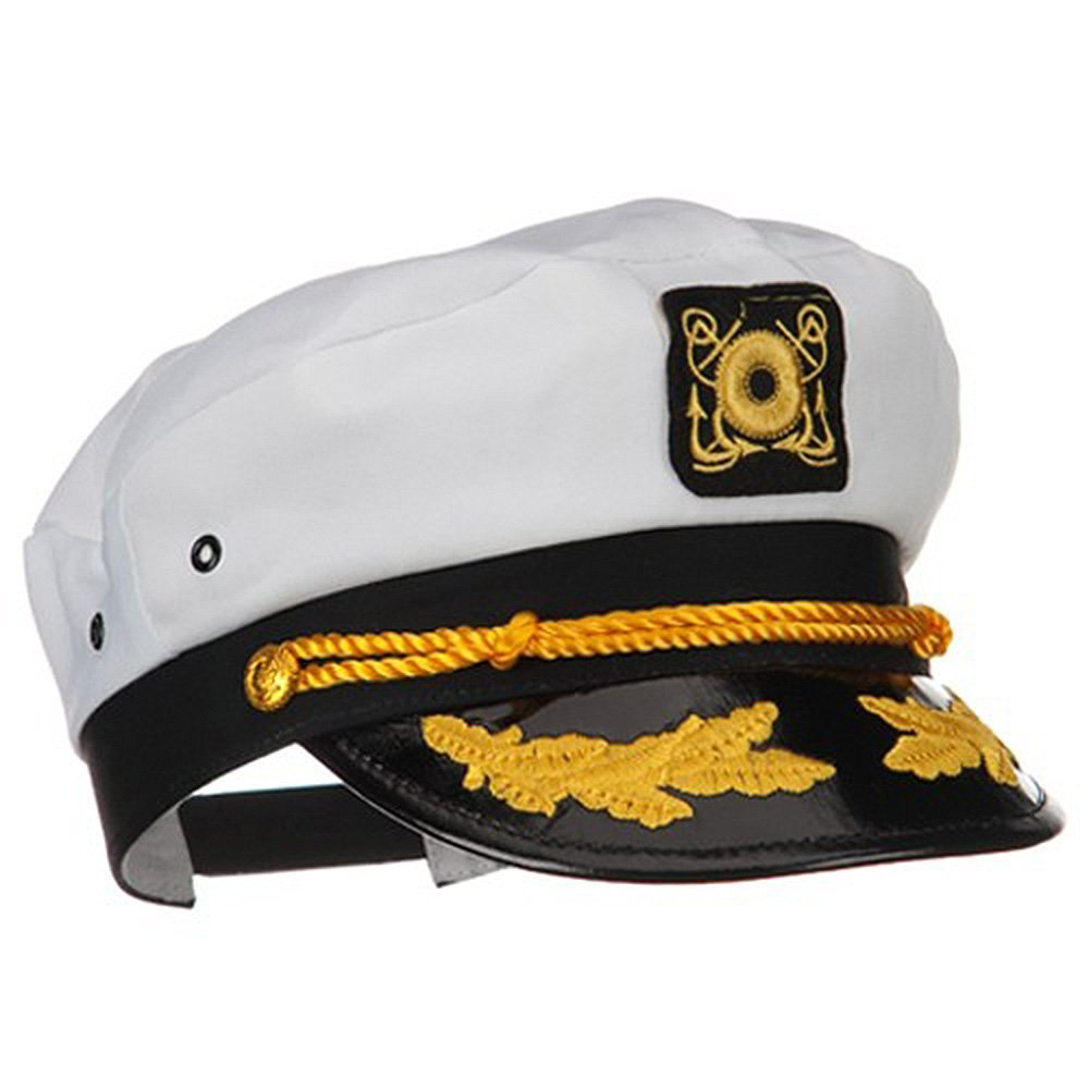 2b0662d76a9 SAILOR SHIP YACHT BOAT CAPTAIN HAT NAVY MARINES ADMIRAL CAP HAT WHITE GOLD  23400 - Walmart.com
