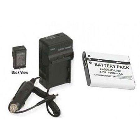 LI50B Battery + Charger for Olympus Stylus MJU 1010, Olympus MJU 1020, Olympus 1030 SW (Olympus Stylus 1030 Sw)